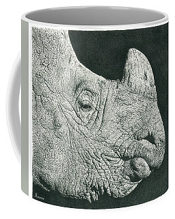 Rhino Pencil Drawing Coffee Mug