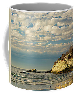Rhode Island Beach In Winter Coffee Mug by Nancy De Flon
