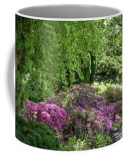 Coffee Mug featuring the photograph Rhododendron Bloom In Botanical Garden Mendelu by Jenny Rainbow