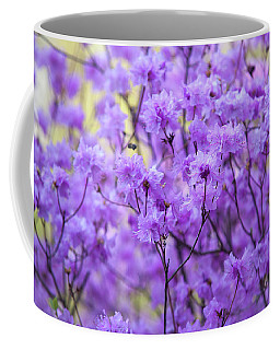 Coffee Mug featuring the photograph Rhododendron In Bloom. Spring Watercolors by Jenny Rainbow
