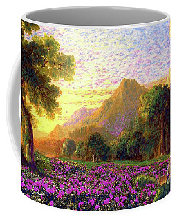 Rhododendrons, Rabbits And Radiant Memories Coffee Mug by Jane Small