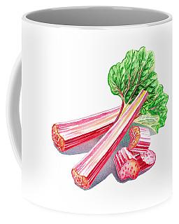 Rhubarb Stalks Coffee Mug by Irina Sztukowski