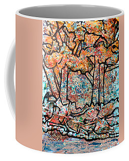 Coffee Mug featuring the mixed media Rhythm Of The Forest by Genevieve Esson