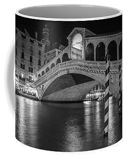 Rialto Bridge Black And White  Coffee Mug