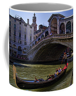 Rialto Bridge In Venice Italy Coffee Mug by David Smith