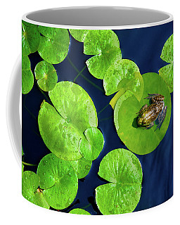 Coffee Mug featuring the photograph Ribbit by Greg Fortier