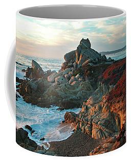 Ribera Beach Sunset Carmel California Coffee Mug