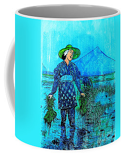 Rice Field Blues Coffee Mug by Roberto Prusso