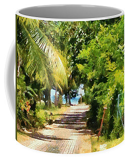 Rich Green Path Coffee Mug