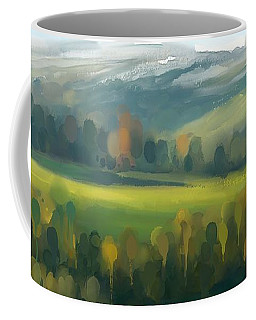 Coffee Mug featuring the painting Rich Landscape by Ivana Westin
