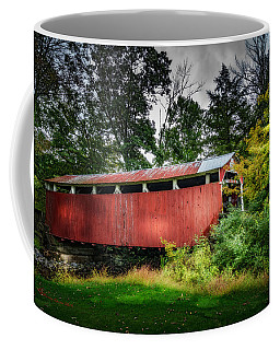 Coffee Mug featuring the photograph Richards Covered Bridge by Marvin Spates