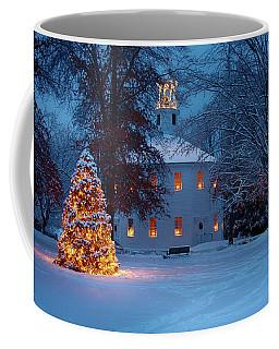 Richmond Vermont Round Church At Christmas Coffee Mug