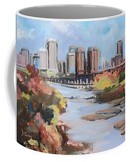 Richmond Virginia Skyline In Autumn Coffee Mug