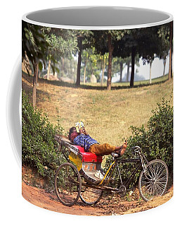 Rickshaw Rider Relaxing Coffee Mug