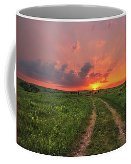 Coffee Mug featuring the photograph Ride Off Into The Sunset by Darren White