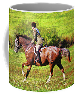 Coffee Mug featuring the photograph Ride The Brown Horse by Ola Allen