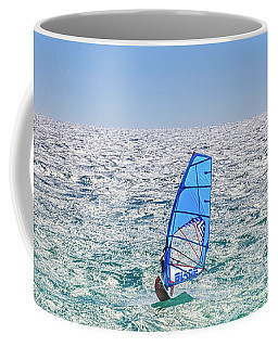 Ride The Waves, Scarborough Beach Coffee Mug by Dave Catley