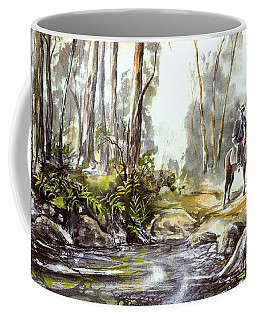 Rider By The Creek Coffee Mug