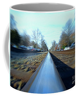 Coffee Mug featuring the photograph Ridin The Rails by Melissa Messick