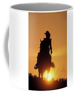 Riding Cowgirl Sunset Coffee Mug