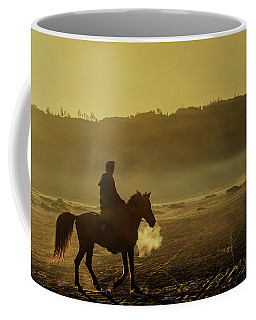 Coffee Mug featuring the photograph Riding His Horse by Pradeep Raja Prints