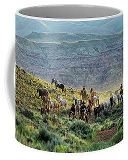 Riding Out Of The Sunrise Coffee Mug