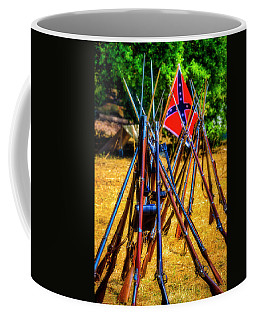 Rifles Stacked At Camp  Coffee Mug