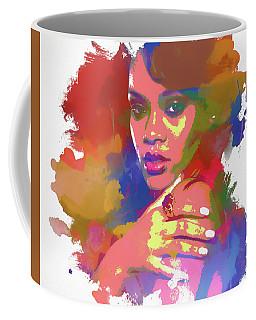 Rihanna Watercolor Coffee Mug