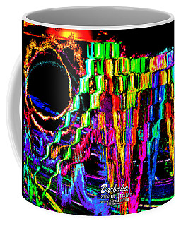 Coffee Mug featuring the photograph Rings Of Fire by Barbara Tristan