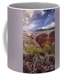 Coffee Mug featuring the photograph Rio Grande Gorge Bridge by Jill Battaglia