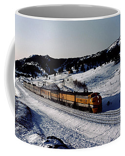 Rio Grande Zephyr Trainset In The Snow, Plainview Colorado, 1983 Coffee Mug