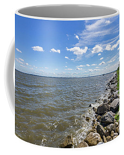 Coffee Mug featuring the photograph Rip-rap On The Chester River by Charles Kraus