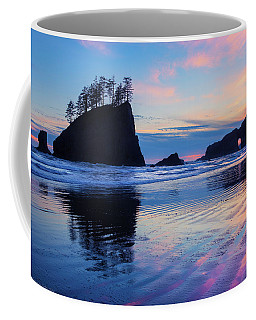 Coffee Mug featuring the photograph Ripple Reflections Of Dusk At Second Beach by Expressive Landscapes Fine Art Photography by Thom