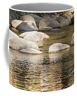 Coffee Mug featuring the photograph Ripples And Rocks by Linda Lees
