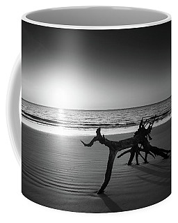 Ripples At Sunrise In Black And White Coffee Mug
