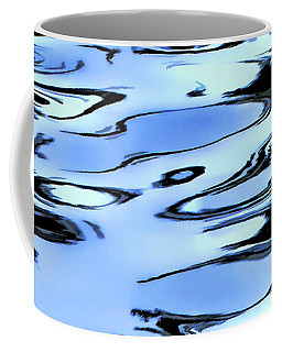 Ripples In Blue Coffee Mug by Adam Olsen