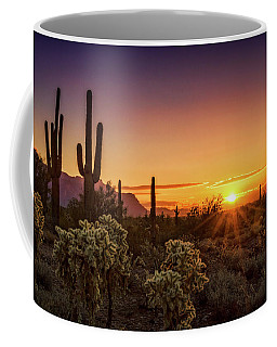 Coffee Mug featuring the photograph Rise And Shine Arizona  by Saija Lehtonen