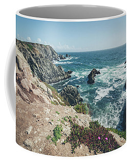 Coffee Mug featuring the photograph Rising Cliffs At Bodega Head by Margaret Pitcher