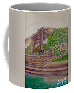 Rising Spirit Of The Tiger With The Sun Coffee Mug