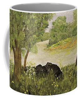 River Bend In Spring Coffee Mug