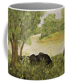 River Bend In Spring Coffee Mug