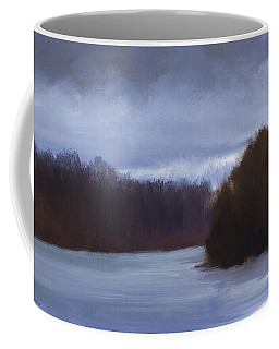 River Bend In Winter Coffee Mug