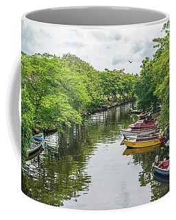 River Boat Dock Coffee Mug