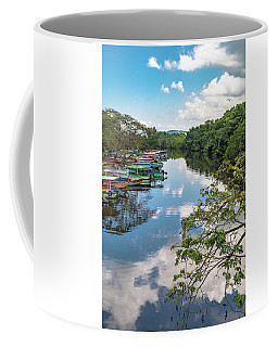 River Boats Docked In Negril, Jamaica Coffee Mug