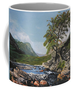 River Coe Scotland Oil On Canvas Coffee Mug