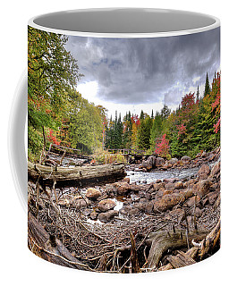 Coffee Mug featuring the photograph River Debris At Indian Rapids by David Patterson
