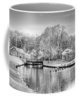 River In The Snow Coffee Mug