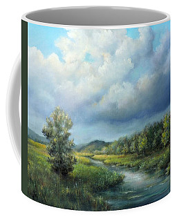 River Landscape Spring After The Rain Coffee Mug