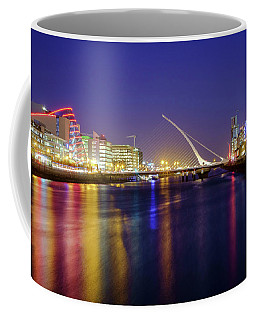 River Liffey In Dublin At Dusk Coffee Mug