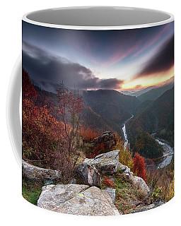 River Meander At Sunrise Coffee Mug